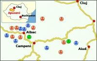 Übersichtskarte Apuseni