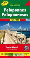 Peleponnes Landkarte 1:150.000